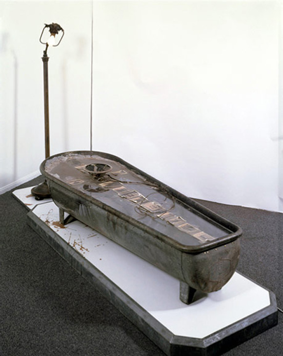 End of the Bucket of Tar with Speaker Trail No. 2 by Ed Kienholz and Nancy Redin Kienholz, 1973