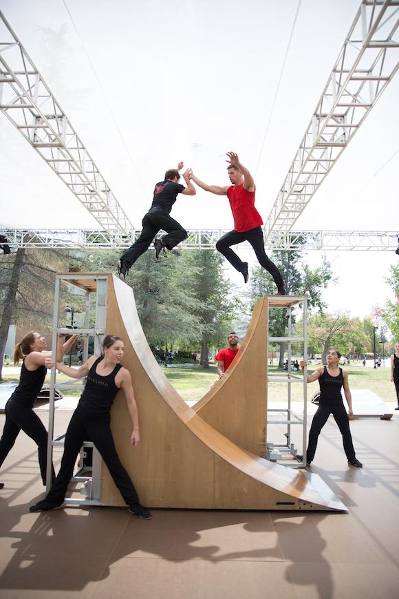 "Diavolo perform ""Transit Space"" on the CSUN campus. | Photo: Luis Luque."