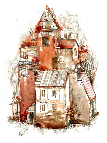 House Fire by Yevgeniya Mikhailik.