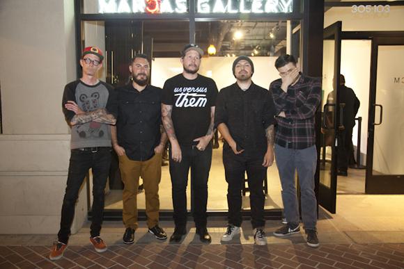 David M. Cook, Dana Jazayeri, Steven Daily, Dan Quintana, Alex Garcia in front of MCA