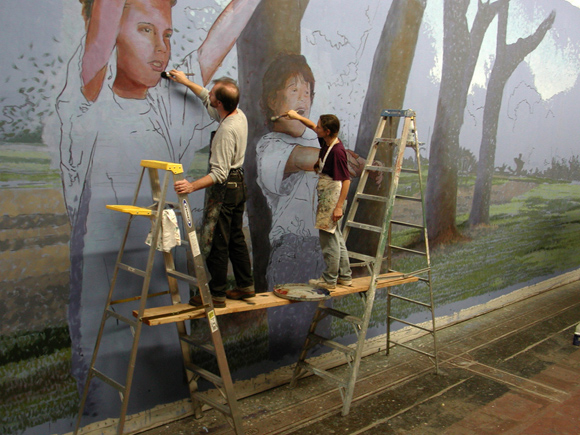 Mural by Kevin Stewart-Magee and Christine Wiseman.