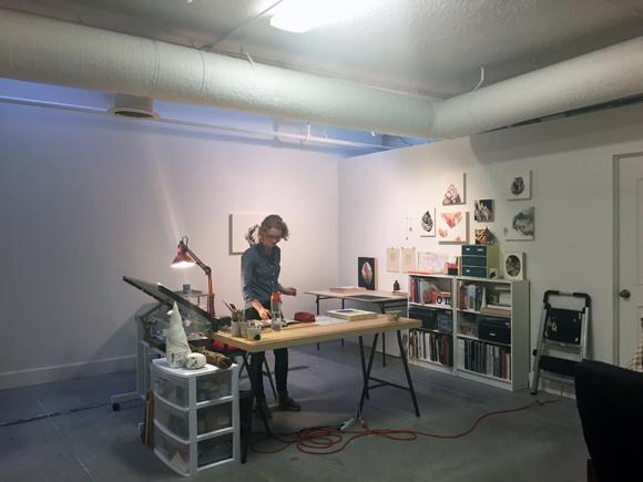 Yevgeniya Mikhailik in her Santa Ana studio.