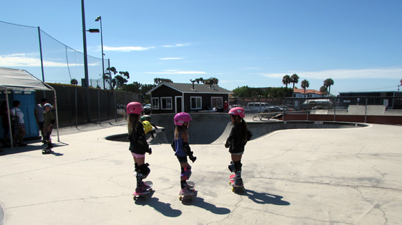 Pink Helmet Posse in action at YMCA Skate Park in Encinitas