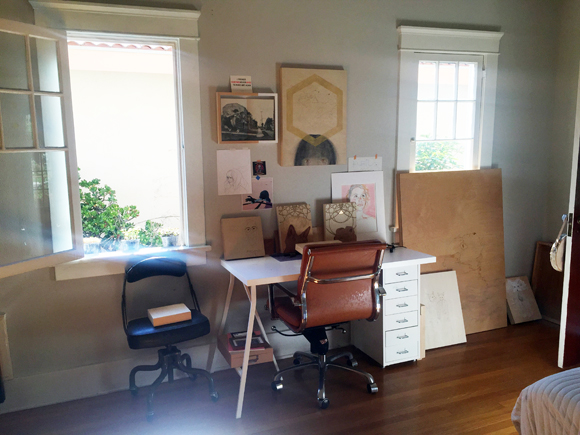 Suzanne Walsh's home studio.