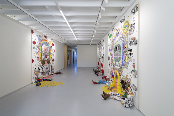 """Jason Yates, """"did i stutter did i ever"""" installation view. 
