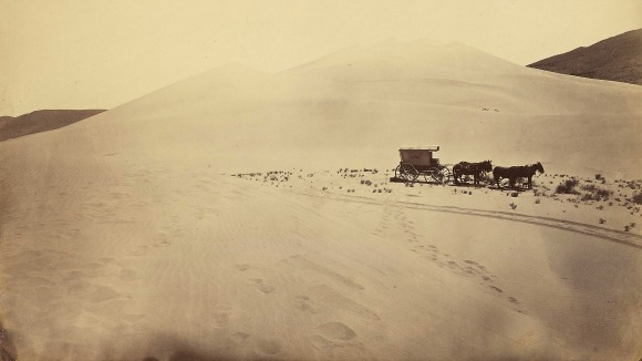 Photo: Timothy O'Sullivan, Desert Sand Hills near Sink of Carson, Nevada, 1867. | Courtesy of The J. Paul Getty Museum.