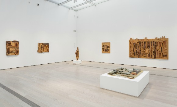 """Installation photo of the exhibition, """"Noah Purifoy: Junk Dada"""" at the Los Angeles County Museum of Art (June 07, 2015- September 27, 2015). ©Noah Purifoy Foundation. Photo ©Museum Associates/LACMA."""