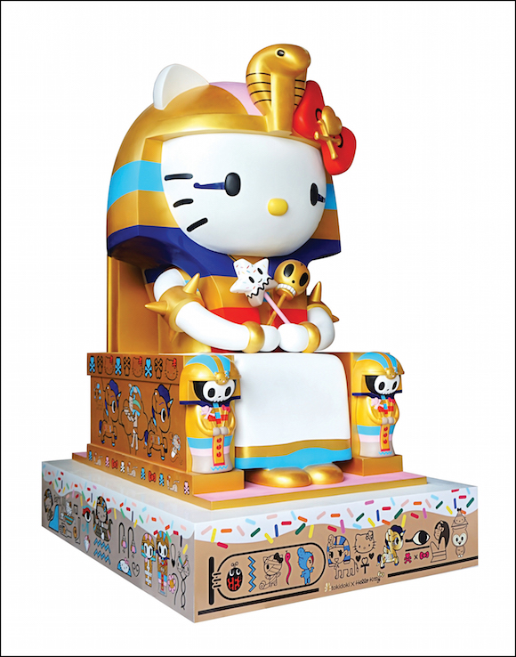 "Simone Legno for tokidoki, ""Kittypatra,"" 2014, sculpture."