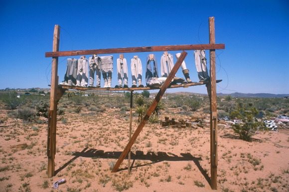 "Noah Purifoy, ""From the Point of View of the Little People,"" 1994. 120 x 96 x 18 in. Noah Purifoy Foundation, Joshua Tree. ©Noah Purifoy Foundation. Photo courtesy Noah Purifoy Foundation."
