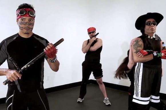 "Mariah Garnett, Guillermo Gómez-Peña, and Roberto Sifuentes, ""Mexcercise,"" 20:00 runtime, HD, 2013"