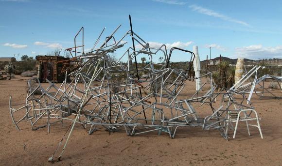 Noah Purifoy Sculpture.   Photo: Drew Tewksbury.