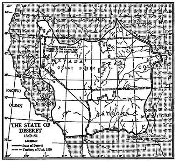 "The State of Deseret (1849-51) from Holman Hamilton's ""Prologue to Conflict: The Crisis and Compromise of 1850."""