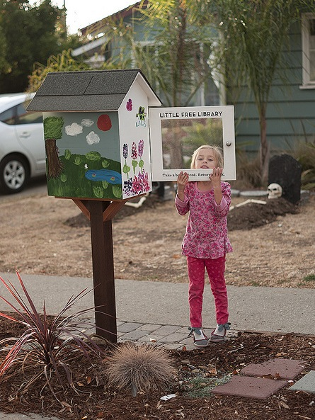 Little Free Library in a San Luis Obispo neighborhood. | Photo: Jeff Van Kleeck.