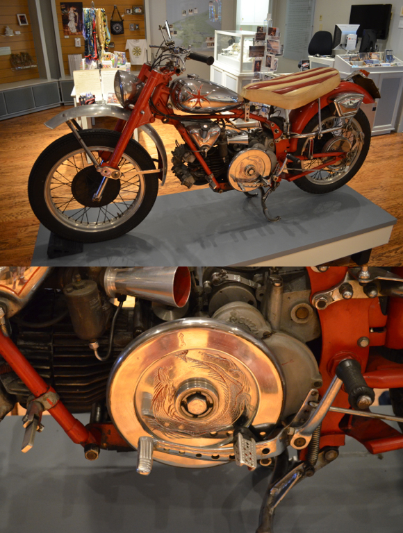 1953 Moto Guzzi Falcone with detail, Courtesy Mike Parti, Photos by Brendan A. Murray