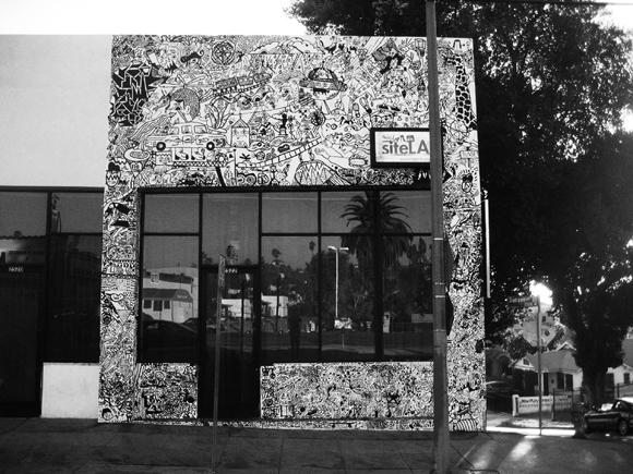 Sumi mural site, L.A.