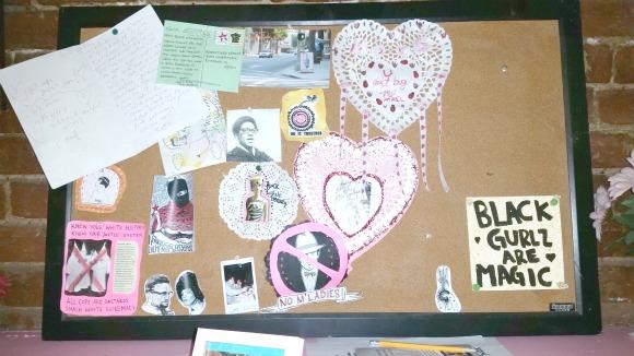 Bulletin board at BOIS. | Photo: Luis Sanchez.