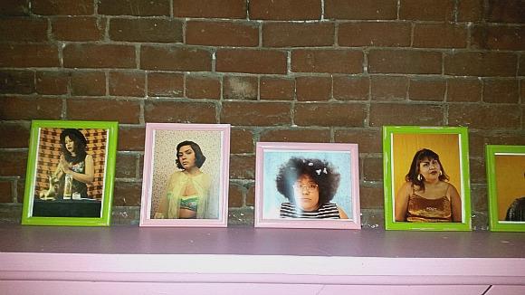 Portrait wall at BOIS. | Photo: Luis Sanchez.
