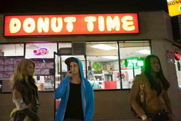 "Kitana Kiki Rodriguez, James Ransone and Mya Taylor in ""Tangerine,"" a Magnolia Pictures release. 