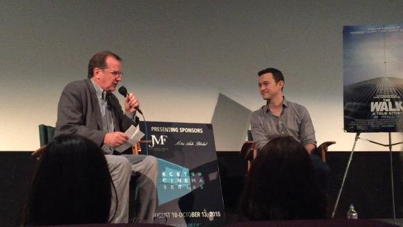 "Joseph Gordon-Levitt discusses ""The Walk"" with Pete Hammond at the KCET Cinema Series."