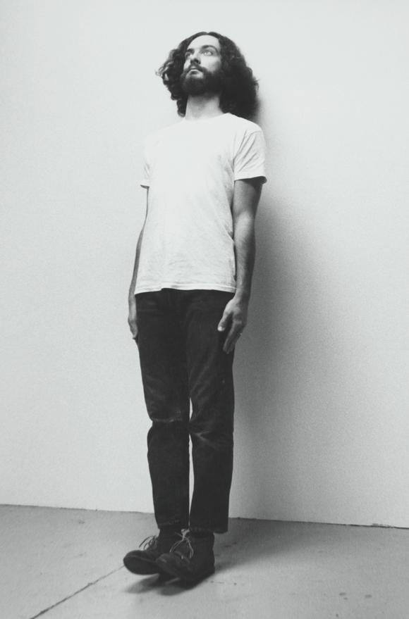 Scott Grieger, Impersonations: John McCracken, 1971/2000 / Photo on canvas, 23.75 in. x 35.5 in. | Courtesy of CSUN.