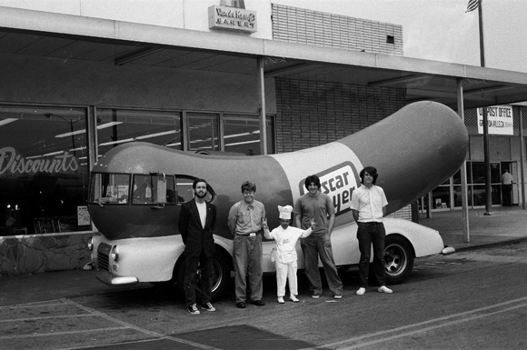 Jeffrey Vallance, Oscar Meyer Wiener Mascot Meetings with Drawing, 1974 / Mixed media. | Courtesy of CSUN.