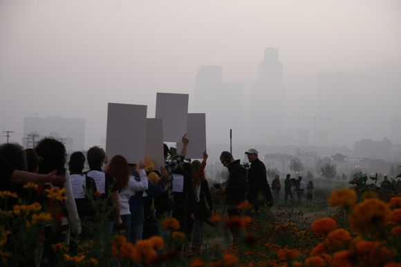 "Ultra-red, ""Untitled for small ensemble"" (2007) Description: performance, State Historic Park, Los Angeles (Sunday, 18 November). 