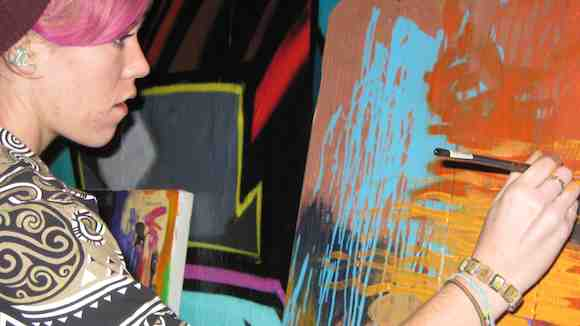 Live painting at FAME Festival.