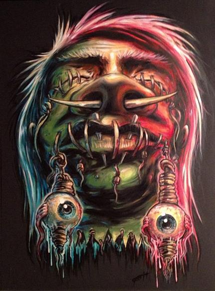 Kustom painting by Bruce Gossett.