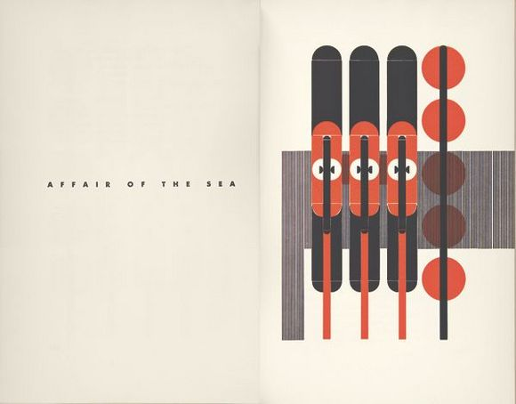 """Alvin Lustig and Ward Ritchie, """"The Ghost in the Underblows"""" (1940) from """"Earthquakes, Mudslides, Fires & Riots: California & Graphic Design 1936-1986"""""""