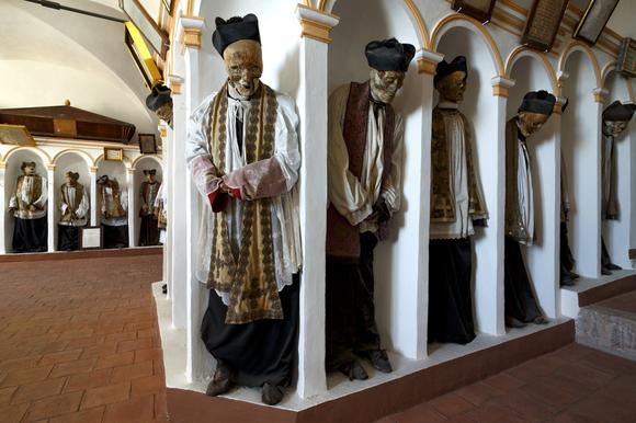 Mummified priests in Gangi, Sicily | Photo by Paul Koudounaris