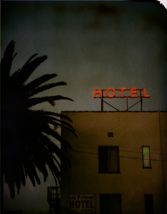 Las Palmas Hotel, Hollywood, 1998. T-59 4 x 5 Polaroid. | Photo: Jim McHugh.