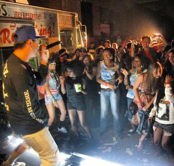 Brokechella performance, photo courtesy of Brokechella.