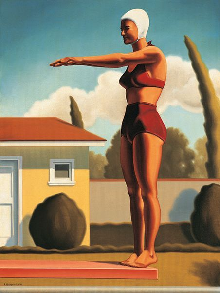 """Swim Party #3"" by Kenton Nelson. 