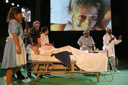 """Los Angeles Poverty Department & WUNDERBAUM, """"Hospital,"""" 2013-2014, performance 