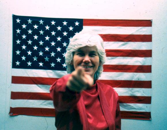 "Susanna Bixby Dakin, ""An Artist For President,"" 1984, publicity still, | Courtesy of the artist"