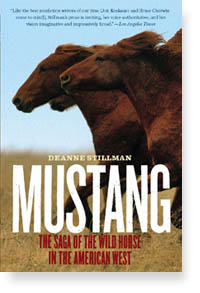 """Book cover for """"Mustang"""" by Deanne Stillman.   Courtesy of the author."""