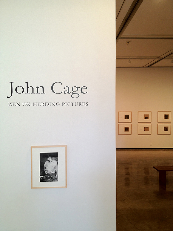 Installation view of 'John Cage: Zen Ox-Herding Pictures' at Pomona College Museum of Art. | Photo: Courtesy of Tyler Stallings.