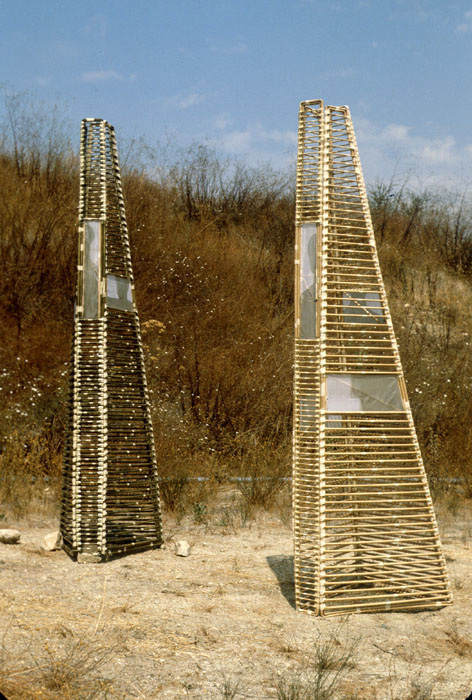Installation view of <em>Nomadic Sculptures</em>, 1980. | Photo: Courtesy of Marsia Alexander-Clarke.