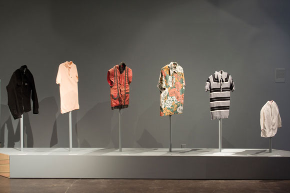 Mario Ybarra Jr., <em>Various Shirts from The Tío Collection</em>, 2012, Mixed media, Dimension variable, Courtesy the Artist and Honor Fraser Gallery, Los Angeles, CA. Photo: Wayne McCall.
