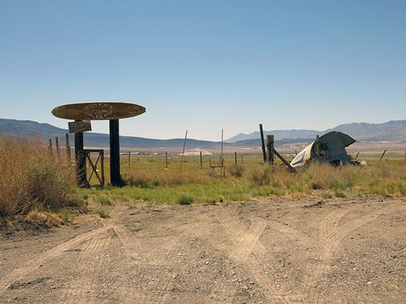 "Former ""Keeler Beach"" recreational site, Keeler, California, eastern edge of the dry Owens Lake. | Photo: Tyler Stallings."