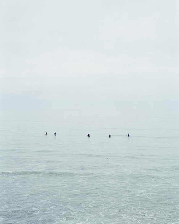 "Catherine Opie, Untitled ""#10 (Surfers),"" 2003. C-print. 51 1/4 x 41 1/8 inches (130.2 x 104.5 cm). © Catherine Opie. Courtesy Regen Projects, Los Angeles."