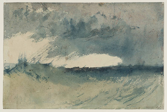 "Joseph Mallord William Turner (British, 1775 - 1851), ""Study of Sea,"" c.1820-30. Watercolour on paper