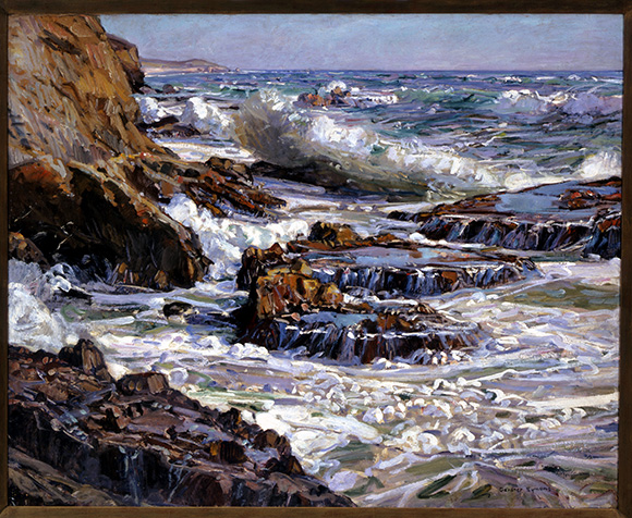 "George Gardner Symons, ""Southern California Coast."" Oil painting on canvas, 40 x 50 in. Courtesy of The Irvine Museum."