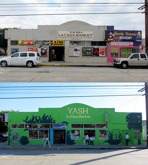 Yash La Casa Market before and after its transformation as part of Proyecto MercadoFRESCO.