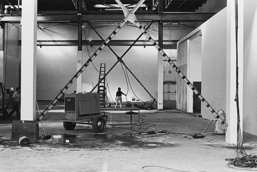 Cleaning up the Temporary Contemporary. | Photo: Grant Mudford.