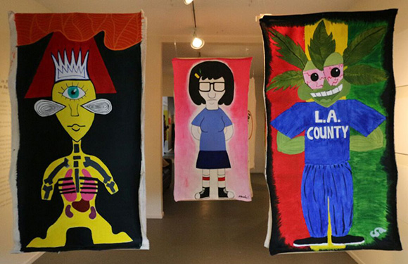 Works by HIPS Student Artists installed at the Angeles Gate Community Gallery.   Photo: Slobodon Dimitrov.   Courtesy: HIPS.