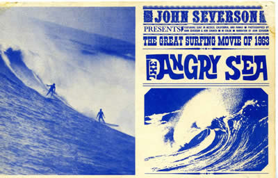 """The Angry Sea,"" movie postcard, 1963. Courtesy of the Bunger Family Surf Memorabilia."