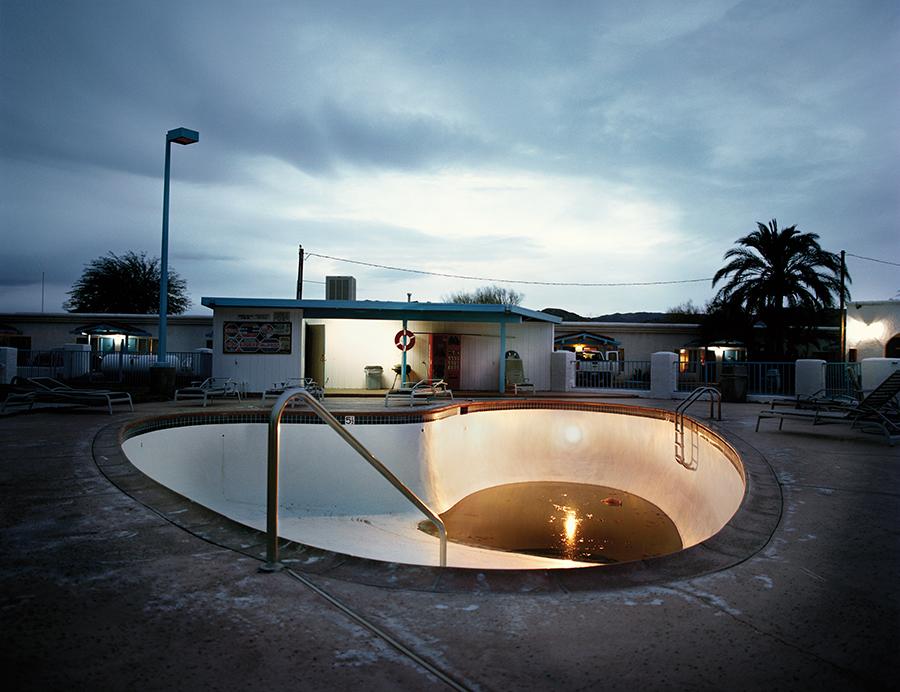 Pool at the Wills Fargo Motel, Baker, California