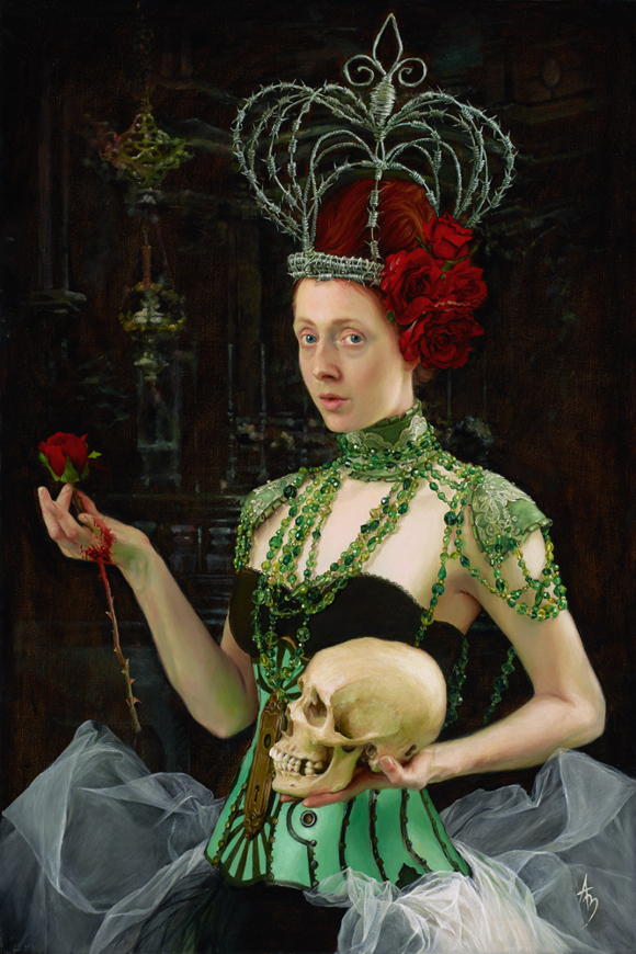 "Alexandra Manukyan, ""Queen of Sorrow,"" 2012, oil on canvas, 24 x 36 inches."