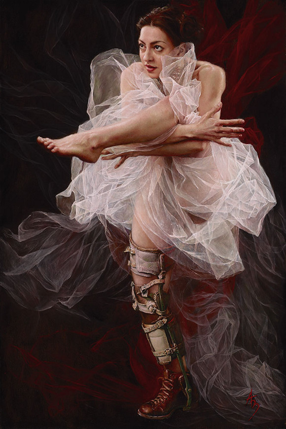 "Alexandra Manukyan, ""Tangled,"" oil on linen, 24 x 36 inches."